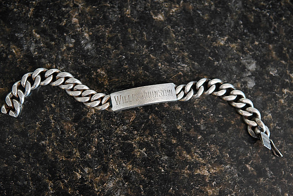 A bracelet belonging to Willis Johnston that was recently found after being lost for over 50 years. (Billy Hefton / Enid News & Eagle)
