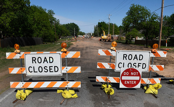 Looking east along Willow Street from Nichols Oaks Drive Tuesday May 2, 2017. (Billy Hefton / Enid News & Eagle)