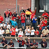 Kankakee CC players and fans cheer a score against Mercer CC to win the 2017 NJCAA DII World Series Friday June 2, 2017 at David Allen Memorial Ballpark. (Billy Hefton / Enid News & Eagle)