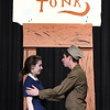 "Thomas Kenney and Baylee Fitzgerald rehearse the Eind High production of ""All Shook Up"" Wednesday April 19, 2017 at the Enid High School auditorium. (Billy Hefton / Enid News & Eagle)"