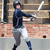 Enid's Mason Skrimager hits a single against Edmond North Saturday April 8, 2017 during the Gladys Winters Tournament at David Allen Ballpark. (Billy Hefton / Enid News & Eagle)
