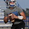 Covington-Douglas' Gavin Smith during a passing camp at Covington-Douglas High School Thursday June 29, 2017. (Billy Hefton / Enid News & Eagle)