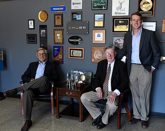 "Three generations of Messer Bower Insurance, (left to right) John W. Bowers III, John W ""Jack"" Bowers, Jr. and John W. ""Jay"" Bowers IV. (Billy Hefton / Enid News & Eagle)"