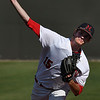 NOC Enid's Kyler Patterson delivers a pitch in the second game against Murray State during the Region 2 tournament Monday May 15, 2017 at David Allen Memorial Ballpark. (Billy Hefton / Enid News & Eagle)