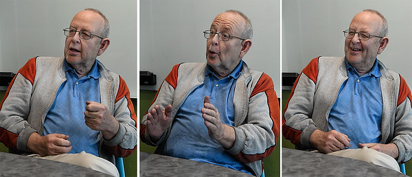 Sam Bishop talks about being a multiple winner in the Oklahoma Lottery during an interview Wednesday January 11, 2017. (Billy Hefton / Enid News & Eagle)