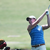 Kaylee Petersen hits a shot from the 16th fairway during the PGA South Central Sectional Tournament at Meadowlake Golf Course Wednesday June 14, 2017. (Billy Hefton / Enid News & Eagle)