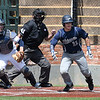 Enid's Kros Bay heads to first after hitting a single against Edmond North Saturday April 8, 2017 during the Gladys Winters Tournament at David Allen Ballpark. (Billy Hefton / Enid News & Eagle)