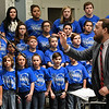 Dr. Casey Gerber conducts the choir during the 2017 Region B Circle the State with Song Choral Festival Tuesday January 10, 2017 at the Convention Hall inside the Central National Bank Center. (Billy Hefton / Enid News & Eagle)