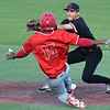 NOC Enid's T.J. Black tags out NOC Tonkawa's Nic Minor at second base Saturday April 22, 2017 at David Allen Memorial Ballpark. (Billy Hefton / Enid News & Eagle)
