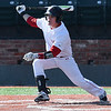 NOC Enid's Daniel Davila connects on a single against SW Iowa Saturday February 18, 2017 at David Allen Ballpark. (Billy Hefton / Enid News & Eagle)