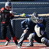 NOC Enid'sHunter Strickland bats against Iowa Western during the season opening game Friday February 3, 2017 at Failing Field. (Billy Hefton / Enid News & Eagle)
