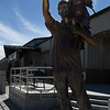 "The statue ""Looking to the Future"" by Scott Streadbeck stands in front of the Woodward County Event Center in Woodward Wednesday February 22, 2017. (Billy Hefton / Enid News & Eagle)"