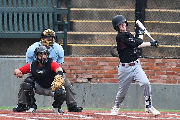 Pioneer's Layken Young bats against Watonga during the opening game of the Merrifield Office Supply Tournament Thursday April 13, 2017 at David Allen Memorial Ballpark. (Billy Hefton / Enid News & Eagle)