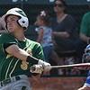 Mercer's Sean McGeehan hits a home run against Lansing CC during the 2017 NJCAA DII World Series at David Allen Memorial Ballpark June 1, 2017. (Billy Hefton / Enid News & Eagle)