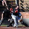 NOC Enid's Tyler Wood hits a RBI double against SE Nebraska Saturday February 11, 2017 at David Allen Ballpark. (Billy Hefton / Enid News & Eagle)
