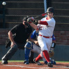 NOC Enid's Griffin Keller hits a single in the second game against Murray State during the Region 2 tournament Monday May 15, 2017 at David Allen Memorial Ballpark. (Billy Hefton / Enid News & Eagle)