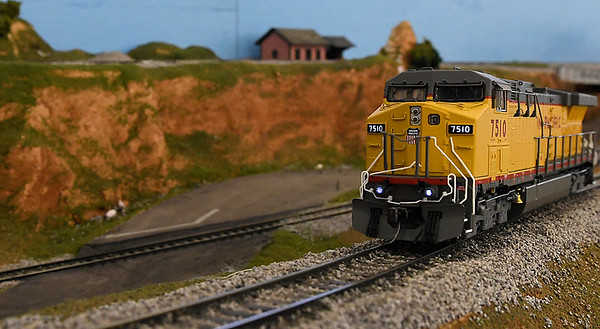 An engine sets on a display for the CSMRA Trainfest to be held this weekend at Oakwood Mall. The show will be open Saturday June 10 9 a.m. - 3 p.m. and Sunday June 10 a.m. - 3 p.m. (Billy Hefton / Enid News & Eagle)