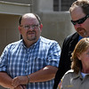 Garfield County sheriff, Jerry Niles, is lead for the Garfield County Courthouse Tuesday July 25, 2017 after being indicted on felony second degree manslaughter in the death of an inmate at the Garfield County detention center last year. (Billy Hefton / Enid News & Eagle)