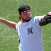 NOC Enid's Colton Thompson delivers a pitch against Murray State during the Region 2 tournament Monday May 15, 2017 at David Allen Memorial Ballpark. (Billy Hefton / Enid News & Eagle)
