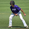 Rodney Phelps takes a lead off second base during the Midwest Showcase Saturday June 10, 2017 at David Allen Memorial Ballpark. (Billy Hefton / Enid News & Eagle)