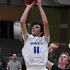 Jacob Bowling of Covington-Douglas puts up a shot against Pioneer during the first round of the 93rd Skeltur Conference Basketball Tournament Tuesday January 17, 2017 at the Central National Bank Center. (Billy Hefton / Enid News & Eagle)