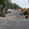 Continuing construction on Willow west of Cleveland street Thursday June 8, 2017. (Billy Hefton / Enid News & Eagle)