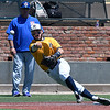 Phoenix CC's Nick Guaragna makes an off balance throw to first for an out to end the 7th inning against Murray State Monday May 29, 2017 during the 2017 NJCAA DII World Series at David Allen Memorial Ballpark. (Billy Hefton / Enid News & Eagle)
