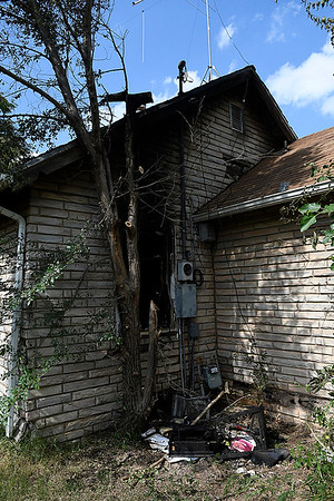 House at 205 E Hickory that suffer a fire Saturday July 1, 2017. (Billy Hefton / Enid News & Eagle)