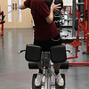 Stephen Rich works out at the fitness center at Vance Air Force Base Friday January 20, 2017. (Billy Hefton / Enid News & Eagle)