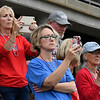 Kankakee CC fans capture the moment during introductions in the 2017 NJCAA DII World Series Friday June 2, 2017 at David Allen Memorial Ballpark. (Billy Hefton / Enid News & Eagle)