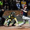 Kankakee CC's Matthew Littrell hits against Mercer CC in the 2017 NJCAA DII World Series Friday June 2, 2017 at David Allen Memorial Ballpark. (Billy Hefton / Enid News & Eagle)