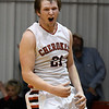 Cherokee's Caleb Roberts reacts after making the game winning shot as time expired against Waukomis February 10, 2017 during the opening round of the district tournament at Ringwood High School. (Billy Hefton / Enid News & Eagle)