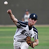 Enid Majors' Matt Hopkins delivers a pitch against the Northern Colorado Roughnecks during the Connie Mack Regional Tournament Tuesday July 18, 2017 at David Allen Memorial Ballpark. (Billy Hefton / Enid News & Eagle)