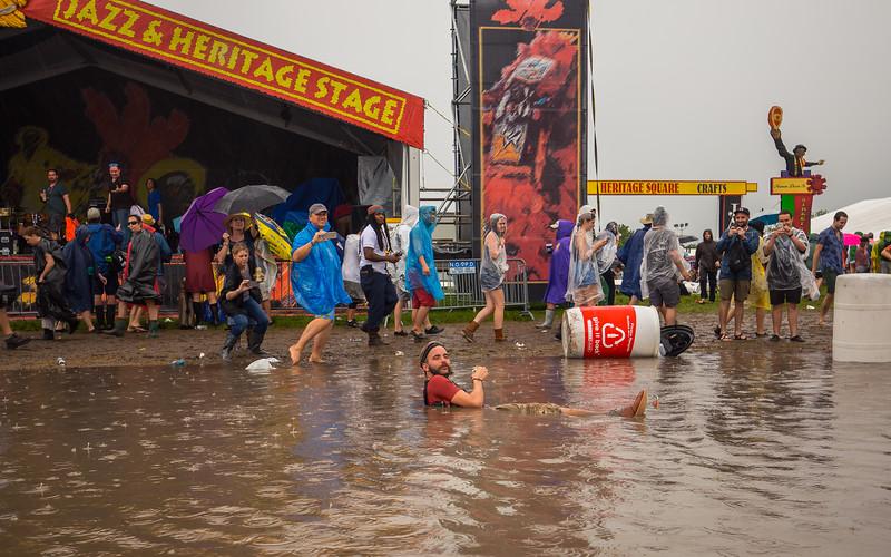 Jazz Fest Rain in New Orleans