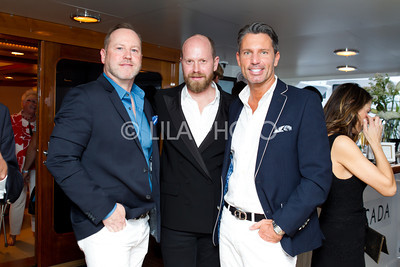 Matthew Holland, ESCADA Fashion Director Daniel Wingate, Bryan Walsh, © LILA PHOTO