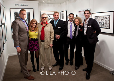 Vincent Harrison, Karla Livengston, Artist Bill Kennedy, Christian Schoch, Michael Huter, Marie Kennedy, Jeffrey Wilkinson. Gallery: Nac Group