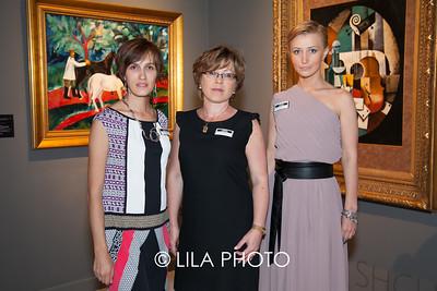 Elena Rudenko, Marin Pri, Nadeshda Pri of Gallery Shchukin
