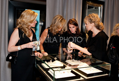 Tricia Callahan Keitel (left) at Van Cleef and Arpels Exhibit