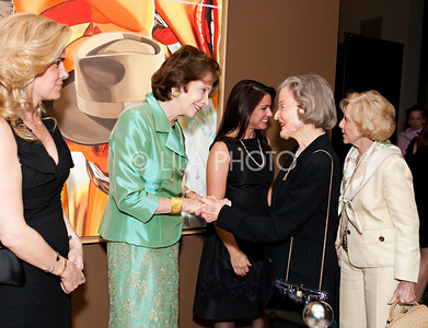 Chairwomen: Tricia Callahan Keitel, Sally Soter, and Annie Falk in receiving for the Norton Museum's Venissage Opening