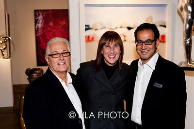 Gary Antonio, Cheryl Maeder (Cheryl's artwork behind, image used for show marketing pieces), Mark Hachem