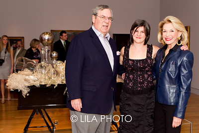 J. Ira and Nicki Harris with artist, Beth Lipman (middle)