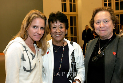 Art after Dark at the Norton Museum. From left: Hillary Enselberg, Yoshi Goodman and Shirley Enselberg.