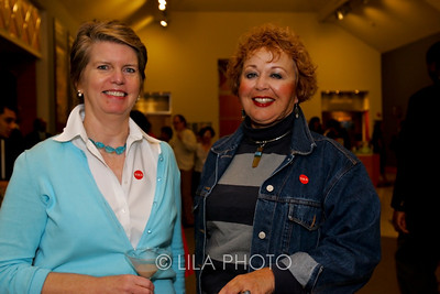 Art after Dark at the Norton Museum. From left: Wendy Maynard and Ginny Coyle.