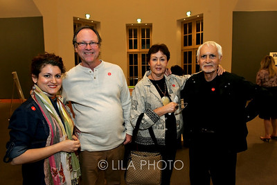 Art after Dark at the Norton Museum. From left: Amy Gross, Sam Perry, Norma Gross and Charles Gross.