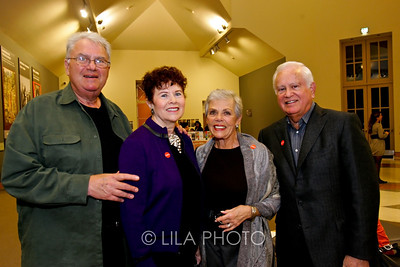 Art after Dark at the Norton Museum. From left: Stanley and Enid Alterman, Barbara and Harvey Falk.