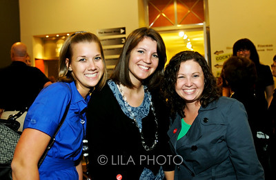 Art after Dark at the Norton Museum. From left: Amy Jacobs, Rebecca Kocan and Shannon Renfro.