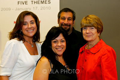 Art after Dark at the Norton Museum. From left: Marisa Pascucci, Sonia Latalladi, Vincent Hoehne and Jane Wattick.