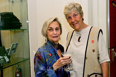 Art after Dark at the Norton Museum. From left: Paula Coben and Barbara Wittenberg.