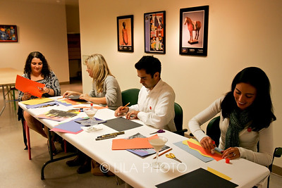 Art after Dark at the Norton Museum. From left: Aliza Rosen, Katie Schnack, Leo Fajardo and Angie Fajardo.