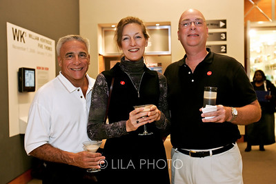Art after Dark at the Norton Museum. From left: Joe Gasperino, Alexandra Bobo and Donald Russ.